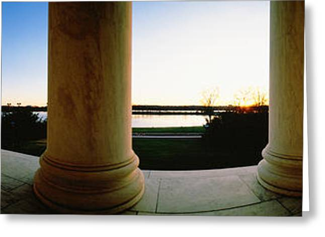 Jefferson Memorial Greeting Cards - Jefferson Memorial Washington Dc Usa Greeting Card by Panoramic Images