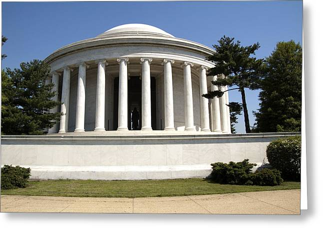 Jefferson Memorial Photographs Greeting Cards - Jefferson Memorial Greeting Card by Wayne Sheeler