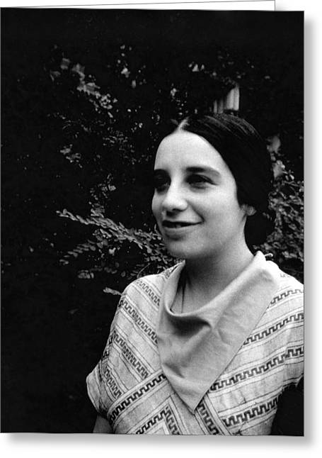 Jenny Bramley Greeting Card by Emilio Segre Visual Archives/american Institute Of Physics