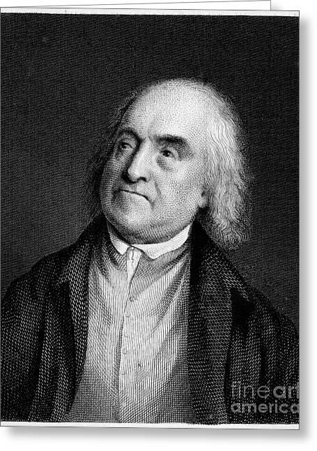 Reformer Greeting Cards - Jeremy Bentham, English Social Reformer Greeting Card by Middle Temple Library