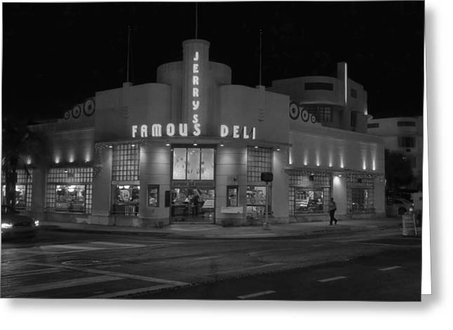 Deli Greeting Cards - Jerrys Famous Deli - Miami Beach Greeting Card by Mountain Dreams