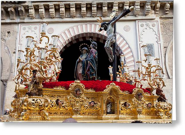 Holy Week Greeting Cards - Jesus Christ on the Cross in Cordoba Greeting Card by Artur Bogacki