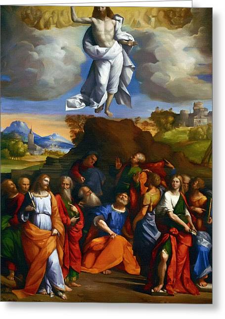 Religious Art Paintings Greeting Cards - Jesus Christ Greeting Card by Victor Gladkiy