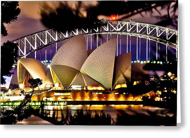 Through Greeting Cards - Jewel Of The Harbour Greeting Card by Az Jackson