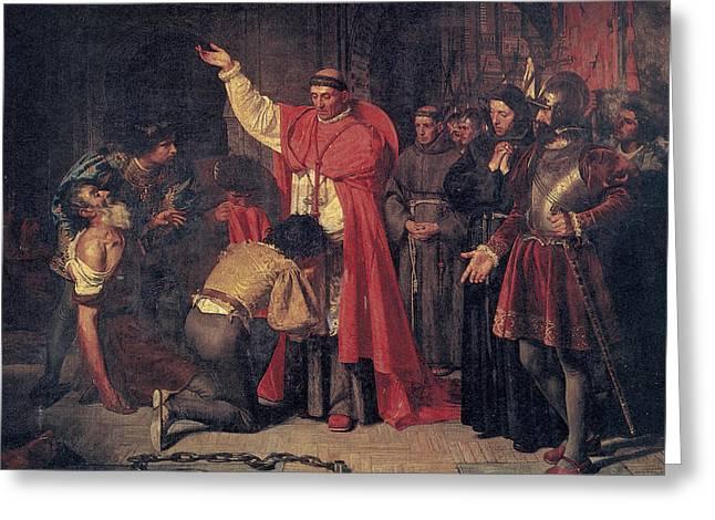 Jimenez De Cisneros (1436-1517) Greeting Card by Granger