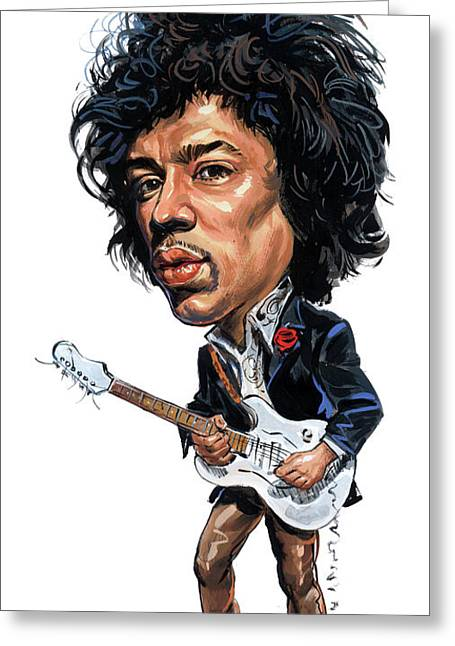 Johnny Allen Hendrix Greeting Cards - Jimi Hendrix Greeting Card by Art