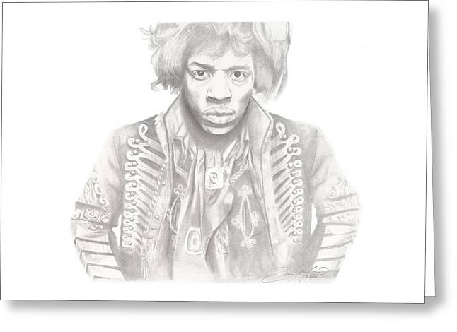 Don Medina Greeting Cards - Jimi Hendrix Greeting Card by Don Medina