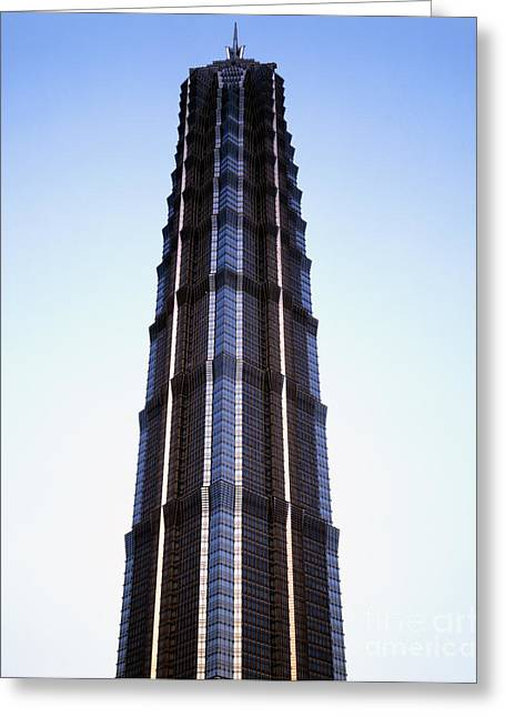 Hyatt Hotel Greeting Cards - Jinmao Tower Greeting Card by Rafael Macia