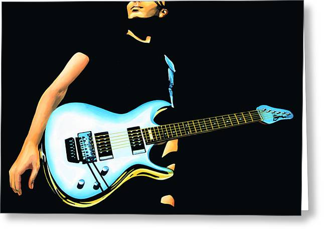 Festival Greeting Cards - Joe Satriani  Greeting Card by Paul  Meijering