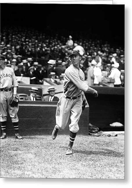 Chicago Cubs Stadium Greeting Cards - John B. Bob Osborn Greeting Card by Retro Images Archive