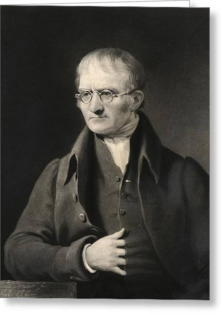 John Dalton, British Chemist Greeting Card by Science Photo Library