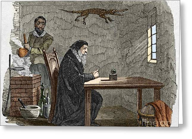 John Dee And Edward Kelly Greeting Card by Sheila Terry