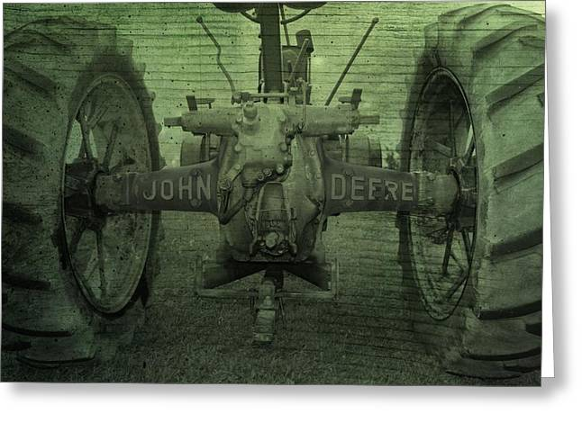 Green Beans Digital Art Greeting Cards - John Deere Greeting Card by Dan Sproul