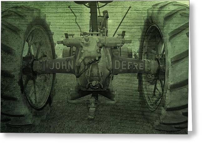 John Deere Greeting Card by Dan Sproul