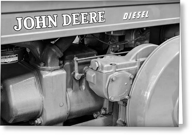 John Deere Diesel Greeting Card by Susan Candelario