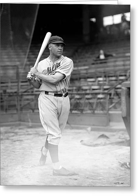 Baseball Bat Greeting Cards - John F. Johnny Moore Greeting Card by Retro Images Archive
