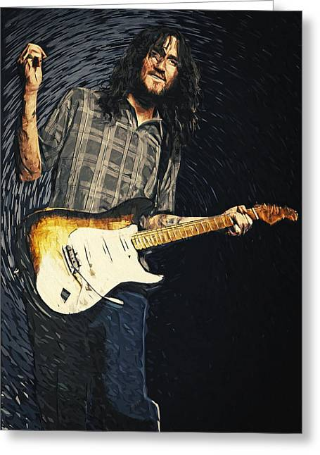 Volta Greeting Cards - John Frusciante Greeting Card by Taylan Soyturk
