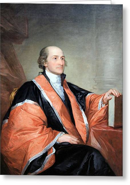 Chief Justice Greeting Cards - John Jay -- 1 Greeting Card by Cora Wandel