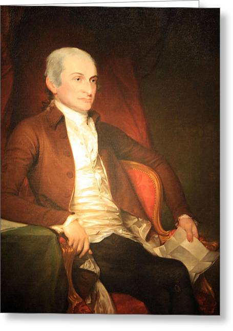 Chief Justice Greeting Cards - John Jay -- 2 Greeting Card by Cora Wandel