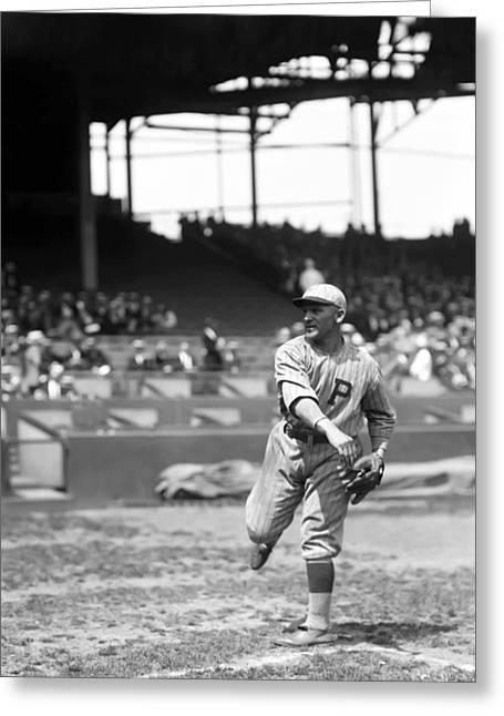 Philadelphia Phillies Stadium Greeting Cards - John L. Johnny Mokan Greeting Card by Retro Images Archive
