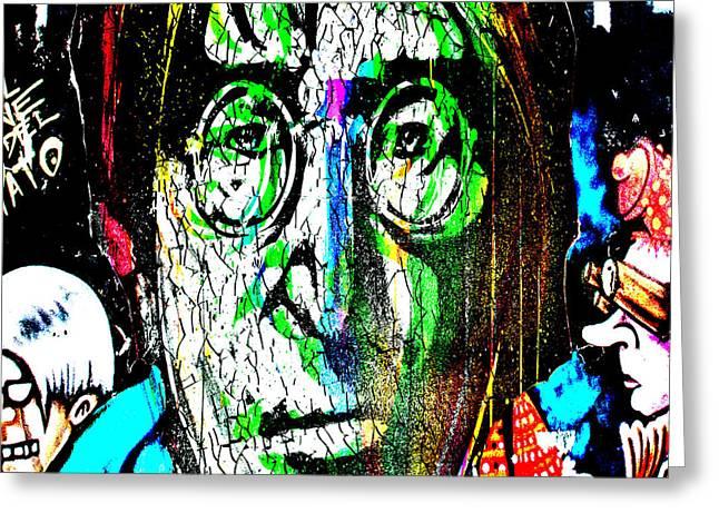 British Celebrities Greeting Cards - John Lennon  Greeting Card by Gary Keesler