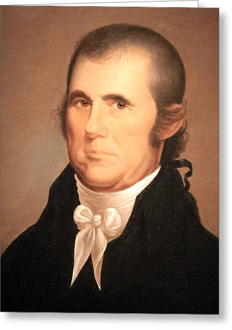 Chief Justice Greeting Cards - John Marshall Greeting Card by Cora Wandel