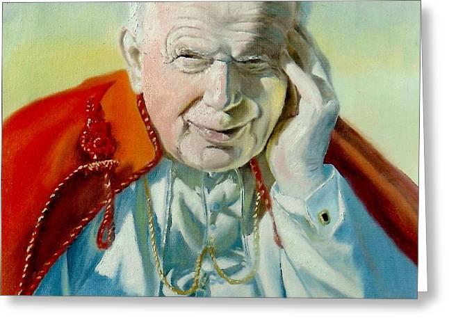 Henryk Greeting Cards - Saint John Paul II Greeting Card by Henryk Gorecki