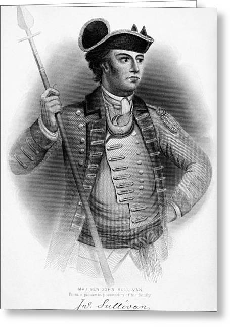 Autograph Greeting Cards - John Sullivan (1740-1795) Greeting Card by Granger