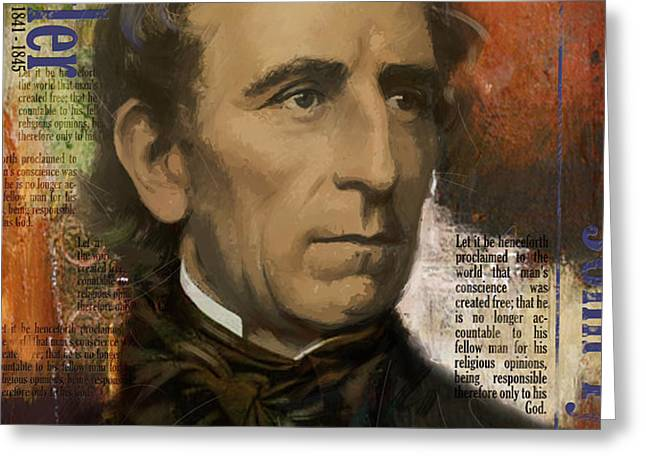 John Tyler Greeting Card by Corporate Art Task Force