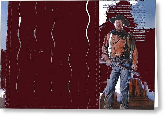 John Wayne Stamp 2004-2013 Greeting Card by David Lee Guss