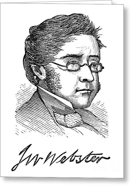 Autograph Greeting Cards - John White Webster Greeting Card by Granger