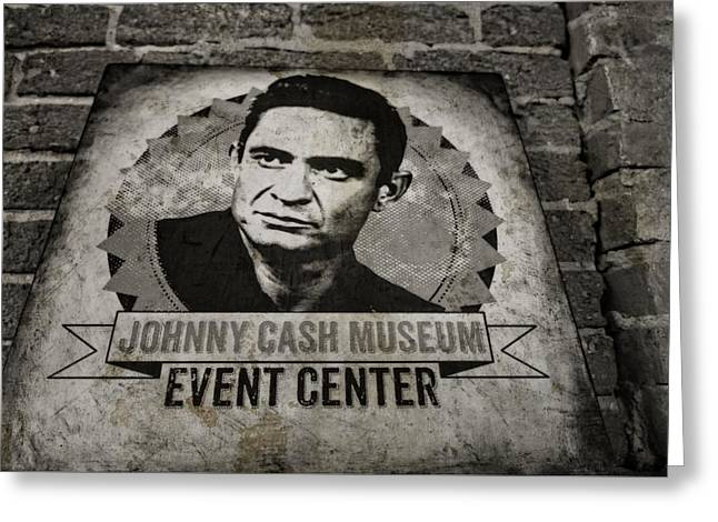 Johnny Cash Museum Greeting Card by Dan Sproul