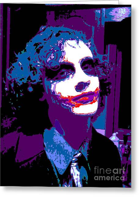 Icons Greeting Cards - Joker 11 Greeting Card by Alys Caviness-Gober