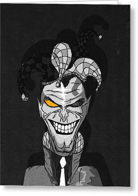Bad Drawing Digital Art Greeting Cards - Joker Greeting Card by Erik Barth
