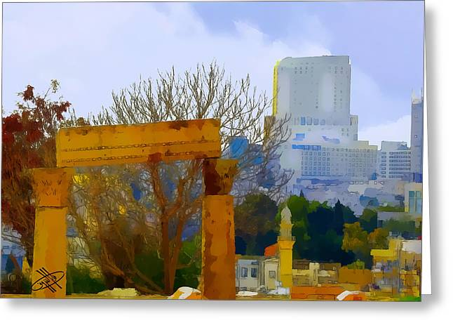 Petra - Jordan Digital Greeting Cards - Jordan/Amman/citadel Greeting Card by Fayez Alshrouf