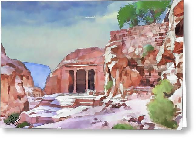Petra - Jordan Digital Greeting Cards - Jordan/petra Greeting Card by Fayez Alshrouf