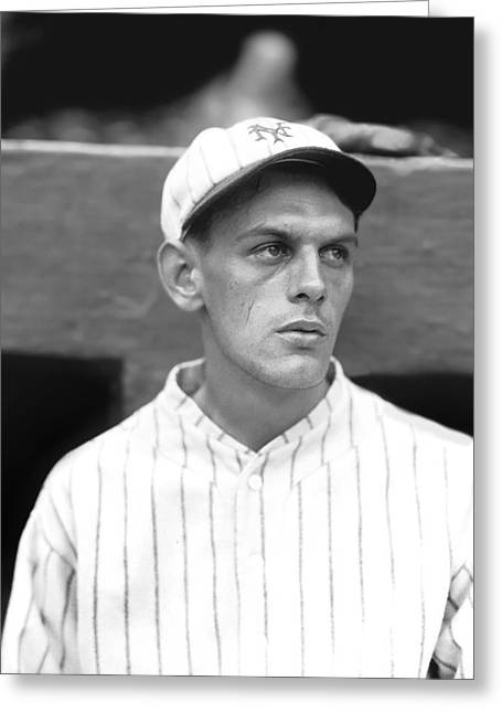 Baseball Portraits Greeting Cards - Joseph A. Jo-Jo Morrissey Greeting Card by Retro Images Archive