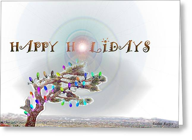 Pioneertown Greeting Cards - Joshua Tree Holiday Greeting Card by Carlos Reyes