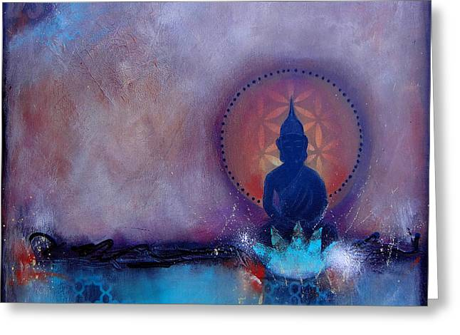 Yoga Greeting Cards - Journey 528 Greeting Card by Tara Catalano