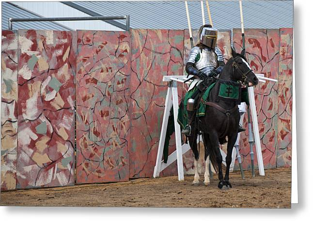 Athletic Sport Greeting Cards - Jousting Greeting Card by Juli Scalzi