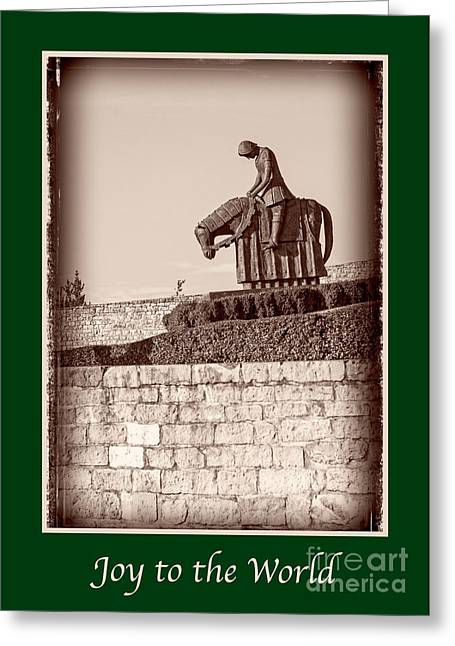 Joy To The World Greeting Cards - Joy to the World with St Francis Greeting Card by Prints of Italy