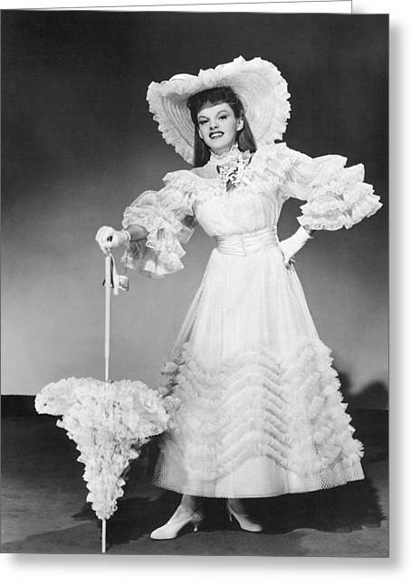 Musical Film Greeting Cards - Judy Garland in Meet Me in St. Louis  Greeting Card by Silver Screen