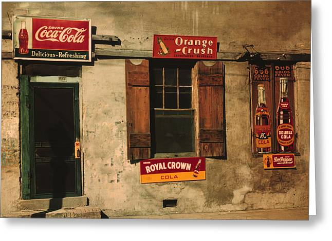 Cotton Club Greeting Cards - Juke Joint Natchez Mississippi Greeting Card by Marion Wolcott