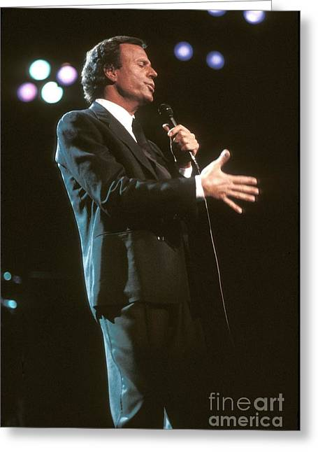 La Cueva Greeting Cards - Julio Iglesias Greeting Card by Front Row  Photographs