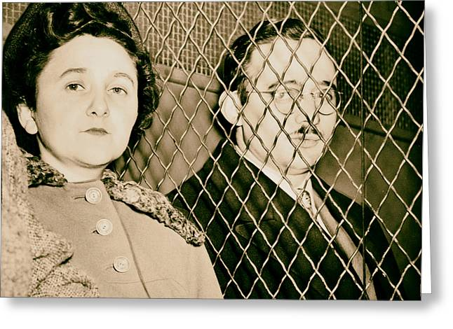 1951 Greeting Cards - Julius and Ethel Rosenberg 1951 Greeting Card by Mountain Dreams