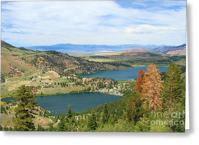 June Mountain View Greeting Card by Adam Jewell