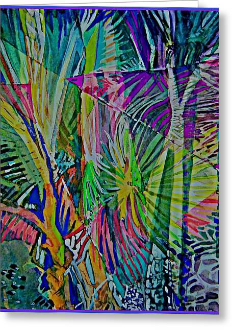 Jungle Lights Greeting Card by Mindy Newman