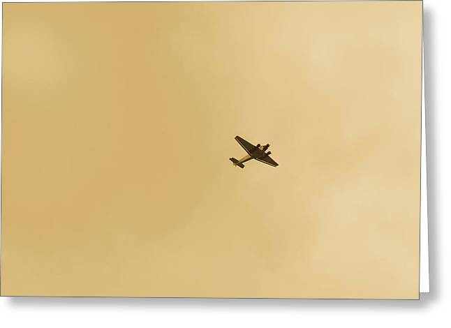 Junker Greeting Cards - Junkers Ju 52 Aircraft Flying Greeting Card by Panoramic Images