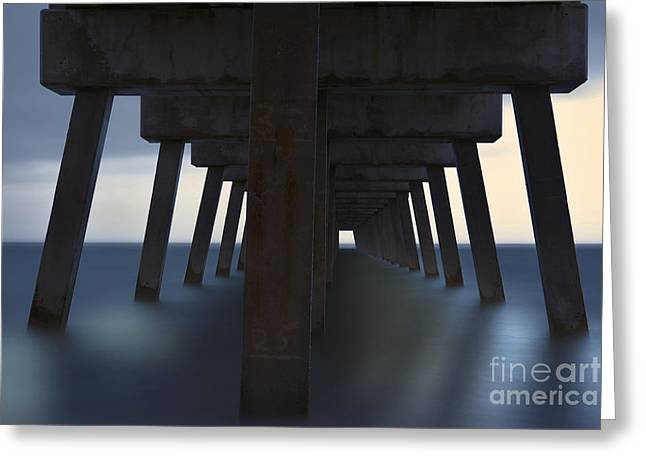 Ddmitr Greeting Cards - Juno Beach Fishing Pier Greeting Card by Dmitry Chernomazov
