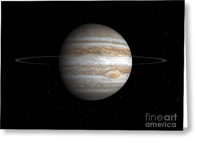 Spheroid Greeting Cards - Jupiter, Artwork Greeting Card by Walter Myers